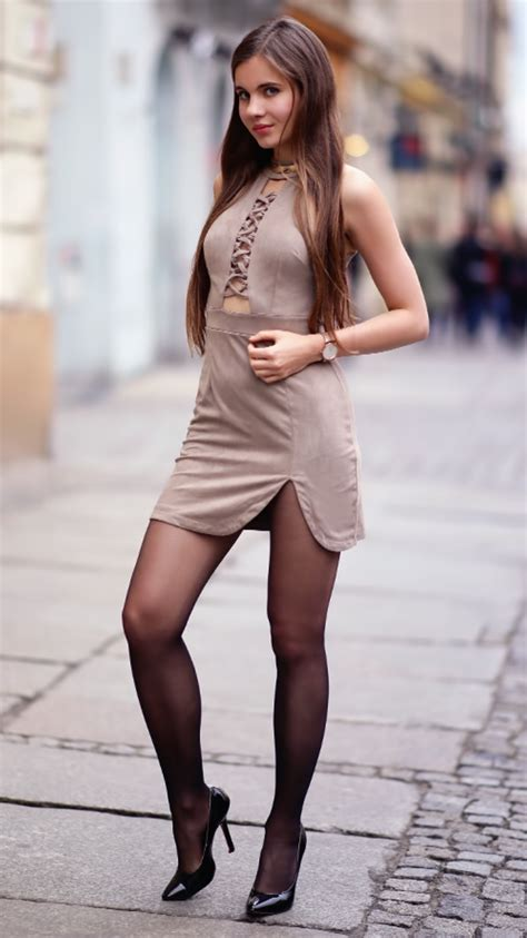 high heels and dresses suede dress black tights high heels and lacquered