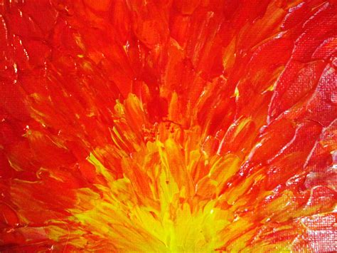 orange painting sale original abstract painting 5 x 7 acrylic fury fiery