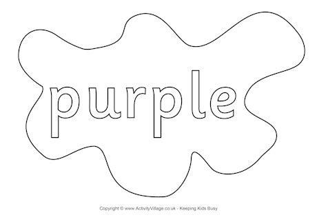 purple coloring pages preschool purple colouring page splats
