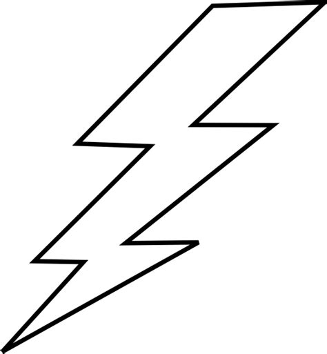 Free Lightning Bolt Stencil Lightening Clip Art Templates Pinterest Lightning Bolt Lightning Bolt Template