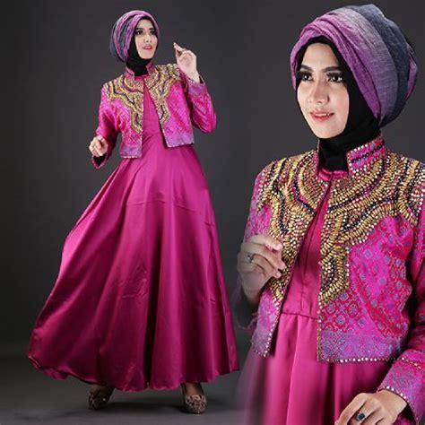 Gamis Pesta Warna Pink baju pesta satin talita2 a225b busana muslim dian pelangi