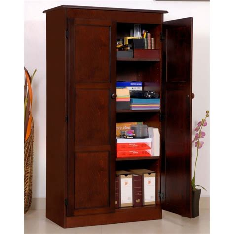 Cabinet Door Storage Ideas dark wood storage cabinet home furniture design