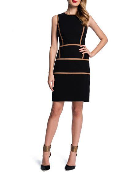 sheath contrast trim dress cynthia steffe sleeveless contrast trim sheath dress