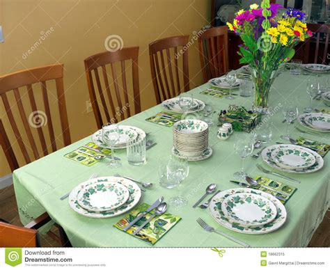 fancy table set for a dinner royalty free stock image large table set for fancy dinner royalty free stock photo