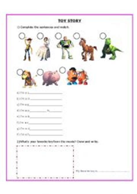 toy story printable activity sheets english worksheet toys from the movie toy story