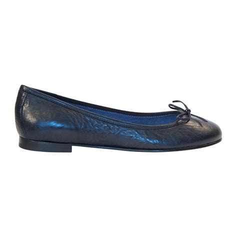 flat navy blue shoes navy blue nappa leather bow ballerina flat paolo shoes