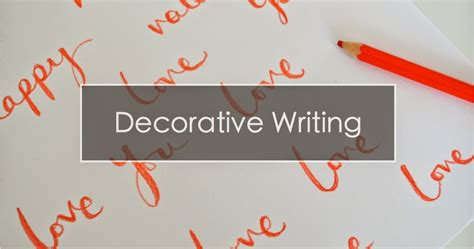 Decorative Writing by Decorative Writing Part 1 The Things She Makes
