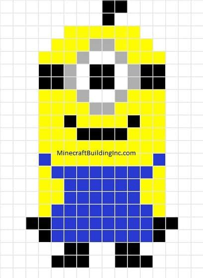 despicable me minion template minecraft building inc