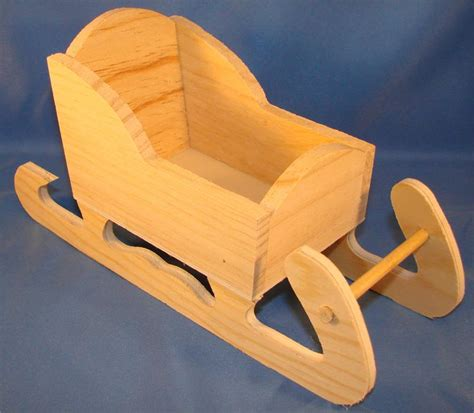 sleigh craft miniature wooden sleighs for crafts