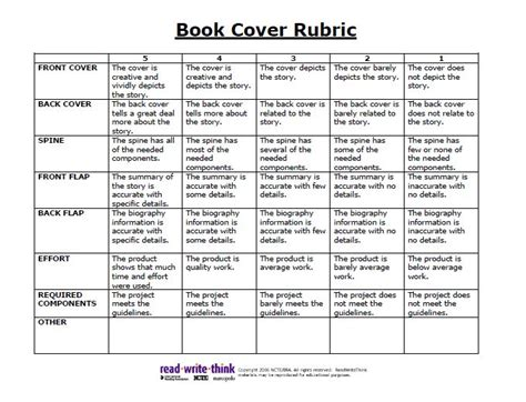picture book rubric 13 best images about media literacy on anchor
