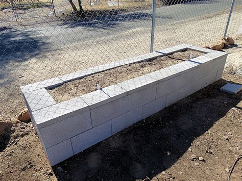 cinder block raised bed cement or concrete block raised bed gardens arizona