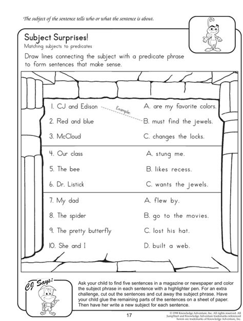 Identify The Subject Of A Sentence Worksheet by 1000 Ideas About Subject And Predicate On