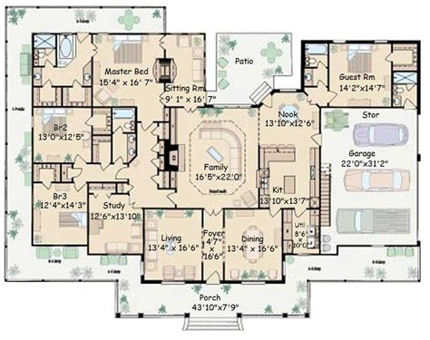 big home plans floor design country house s with open nature plans