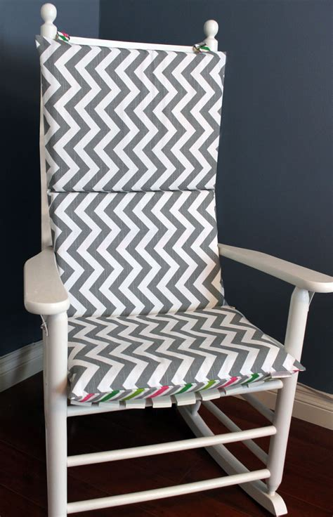 Rocking Chair Pillow by Rocking Chair Cushion Grey And White Multi Chevron