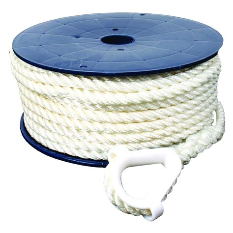 what size anchor rope for my boat 150 ft 1 2 in 3 strand nylon anchor line with anchor