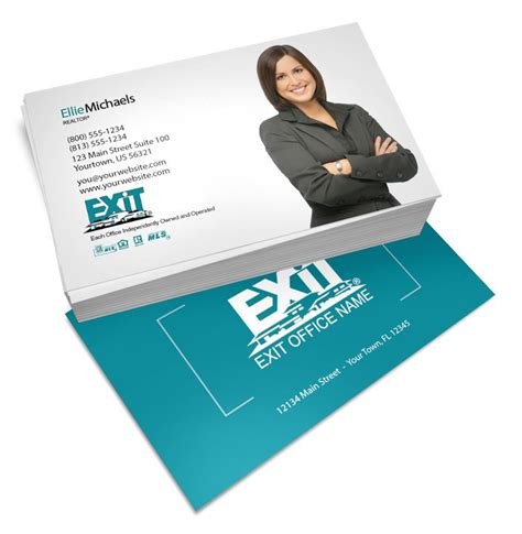 Free Exit Realty Real Estate Business Cards Template by Real Estate Business Cards Exit Realty Gallery Card