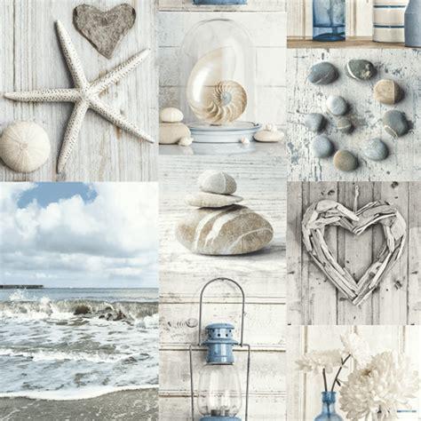 maritime collage wallpaper blue diy bm