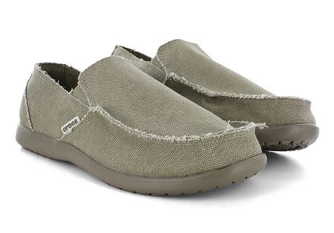 mens canvas slippers mens crocs santa moc toe slip on canvas khaki