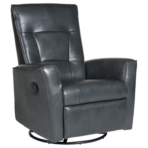 auckland leather glider recliner swivel steel