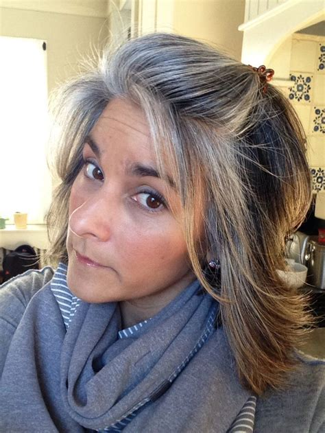 how to grow in gray hair with highlights best 25 silver highlights ideas on pinterest going grey