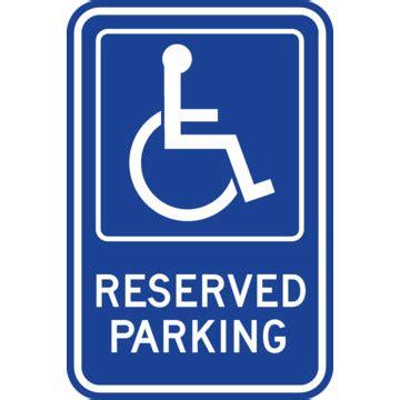 reserved parking disabled parking sign blue reflective