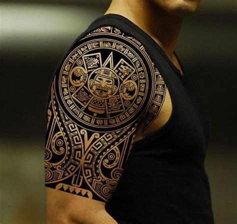 sch 246 ne schwarze tinte gott aztekische sonne vorspanischer