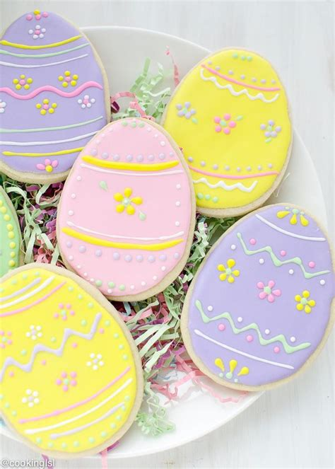decorated easter cookies easter egg sugar cookies with royal icing recipe royal