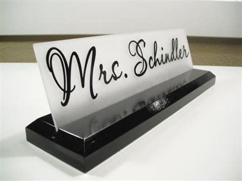 Office Desk Name Plates Office Desk Name Plate Personalized Professional Wood Sign Gift 10 X