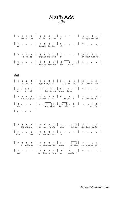 ello masih ada guitar tutorial notasi angka uhad flash