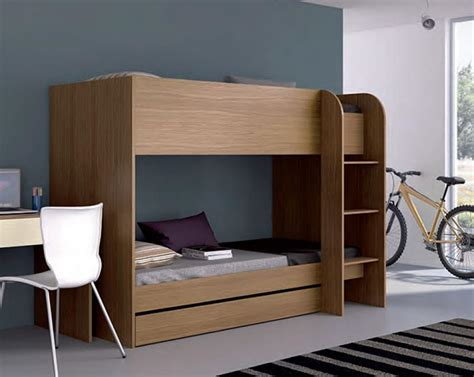 stylish bunk beds wood beds