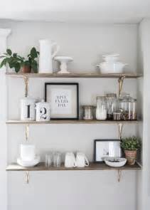kitchen shelf decorating ideas best 10 kitchen wall shelves ideas on open