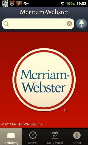 meriam webster dictionary apk merriam webster dictionary an excellent dictionary for offline use apk audio data proapkdroid