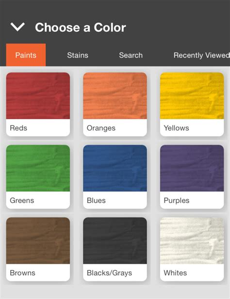 home depot find paint color home depot s project paint app adds color to omnichannel
