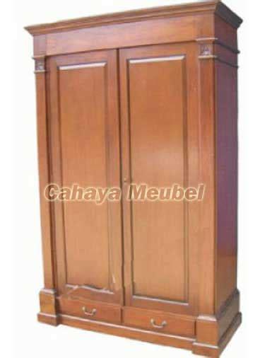 lemari pakaian kayu jati jepara jual lemari pakaian  pintu kayu jati cahaya mebel jepara