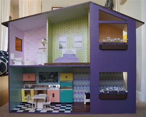 homemade doll house how to make a modern doll house 187 curbly diy design decor