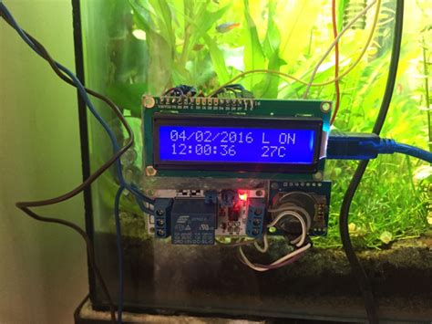fish tank light timer diy fish tank timer temperature monitor feeder