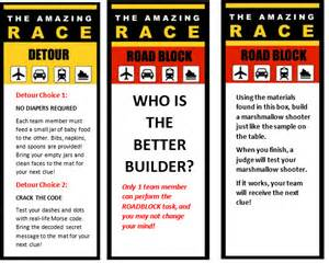 amazing race clues template pictures to pin on pinterest