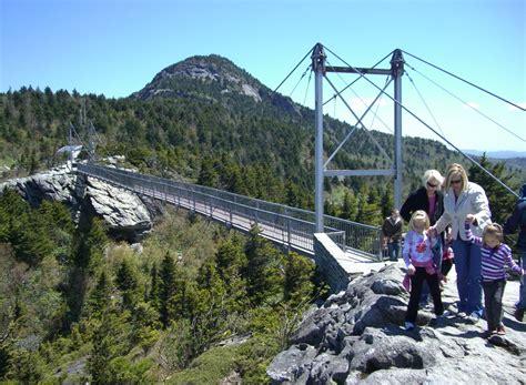 mile high swinging bridge blowing rock nc the mile high swinging bridge