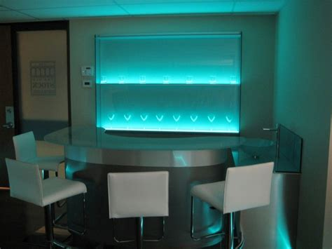 illuminated glass shelves illuminated glass bar shelving