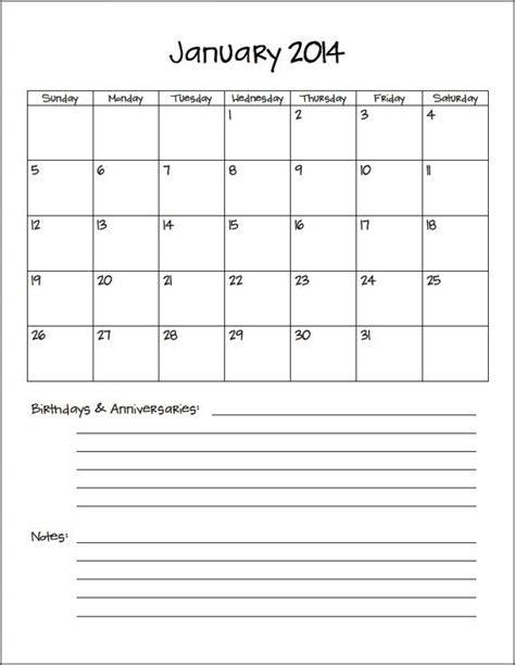8 5 x 11 calendars printable calendar template 2016 8 x 11 printable calendar pictures to pin on pinterest