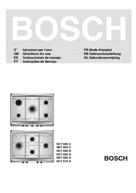Bosch Induction Cooktop User Manual - bosch cooktop manual free managerdual