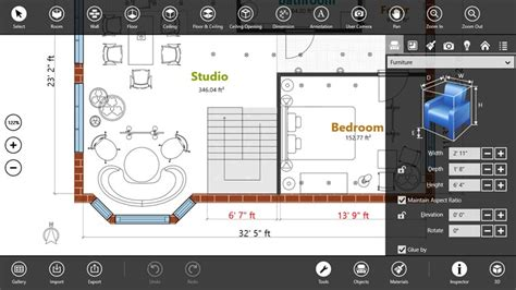 Floor Planner App by Live Interior 3d Pro For Windows 8 And 8 1