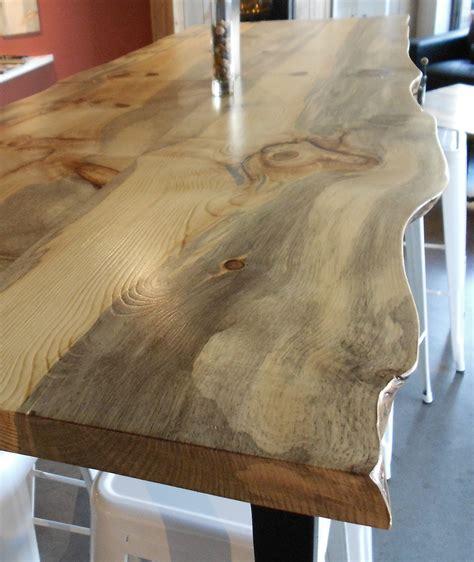Live Edge Slab Bar Windfall Lumber Creating From Reclaimed Wood