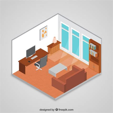 3d room design free 3d isometric room vector free
