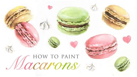 how to paint how to paint macarons fun art tutorial for any skill