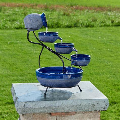smart solar ceramic blueberry solar cascade fountain