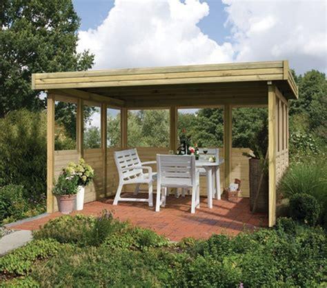 Gartenpavillon Holz by Pavillon Holz Flachdach Selber Bauen Bvrao