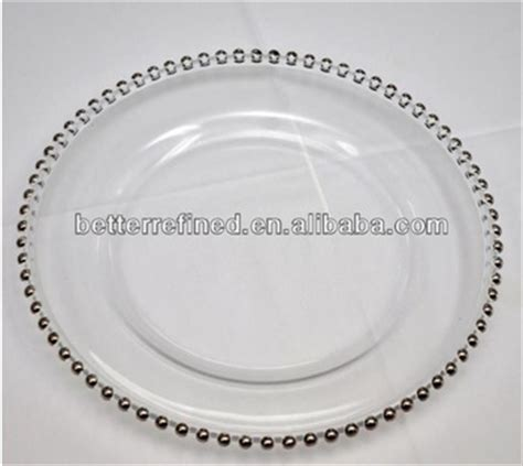 glass beaded charger plates wholesale cheap wholesale wedding gold silver glass beaded charger