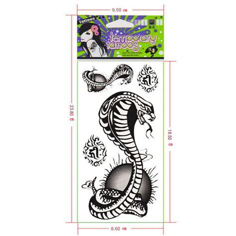 temporary tattoo paper nz k 246 p cobra vattent 228 t snake design tillf 228 llig tatuering