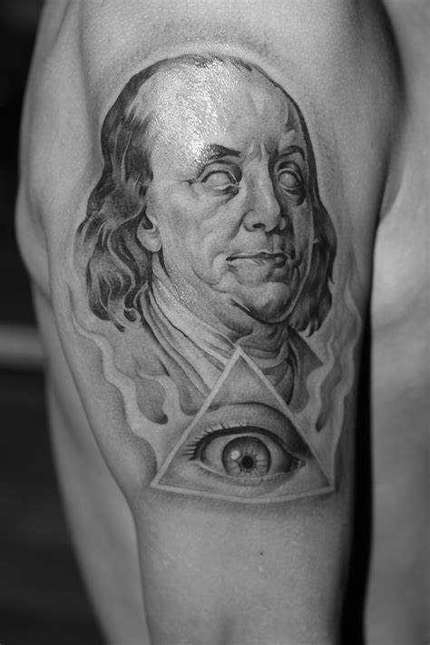 dead presidents tattoo benjamin franklin bryangvargas